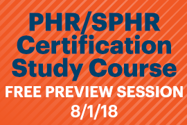 PHR SPHR Certification