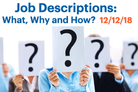 Job Descriptions Training ad