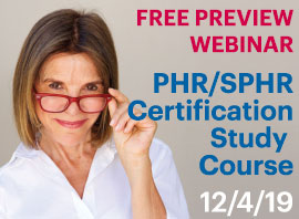 Preview Webinar PHR SPHR Certification study course