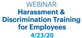 webinar-Harassment Prevention training for employees