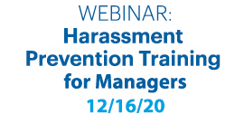 Harassment Prevention Training Managers December 16