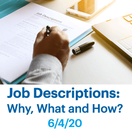 Job Descriptions Class June 4 2020