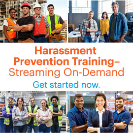 Harassment Prevention Training Streaming On-demand
