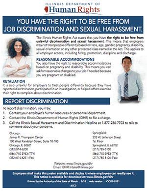 Job Discrimination and Sexual Harassment posting