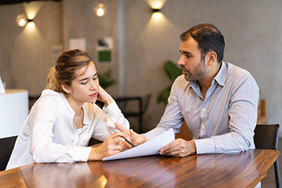 Employee Employer conversation paperwork